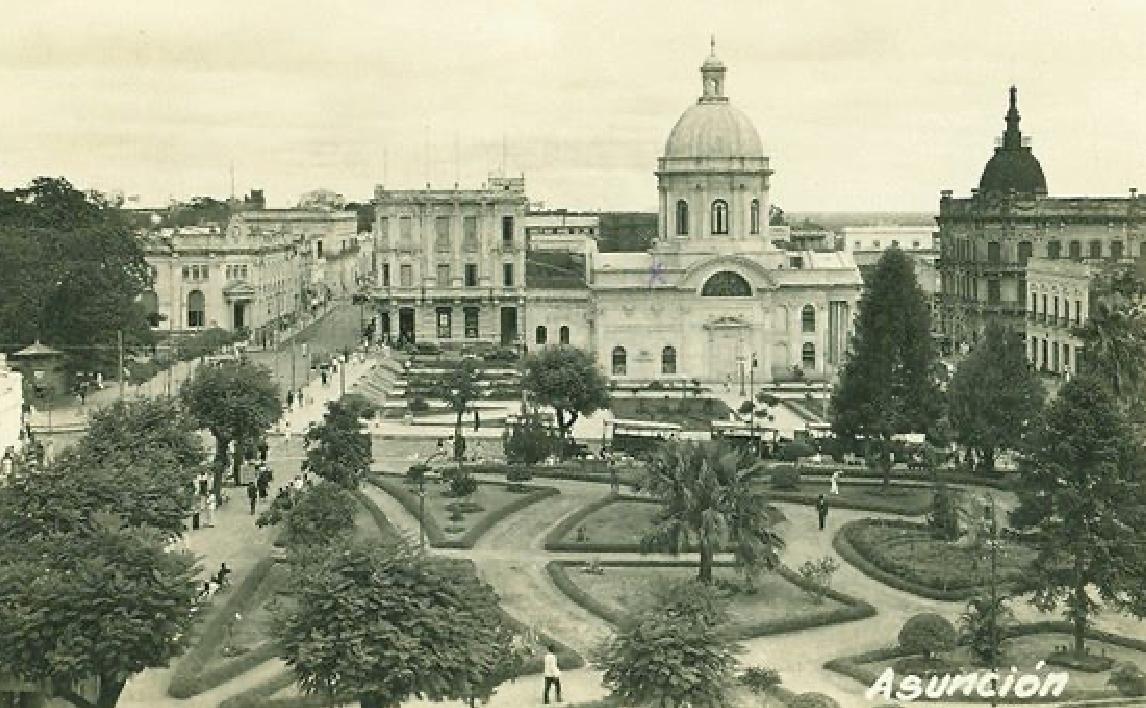 Jardín de la Plaza del Mercado (actual Plaza O'Leary). Década de 1920