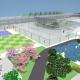 Maqueta digital de jardines para del CEPB. Proyecto Roberto Burle Marx