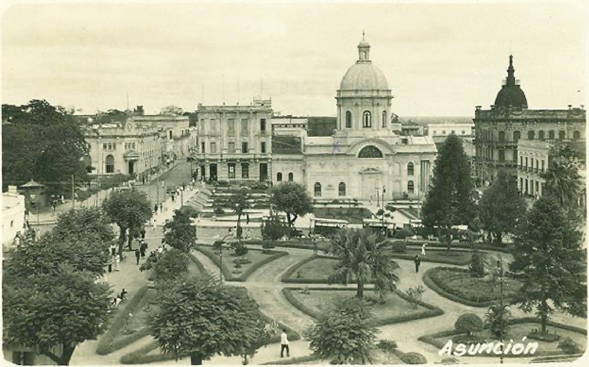 Jardín de la Plaza del Mercado, ca. 1930