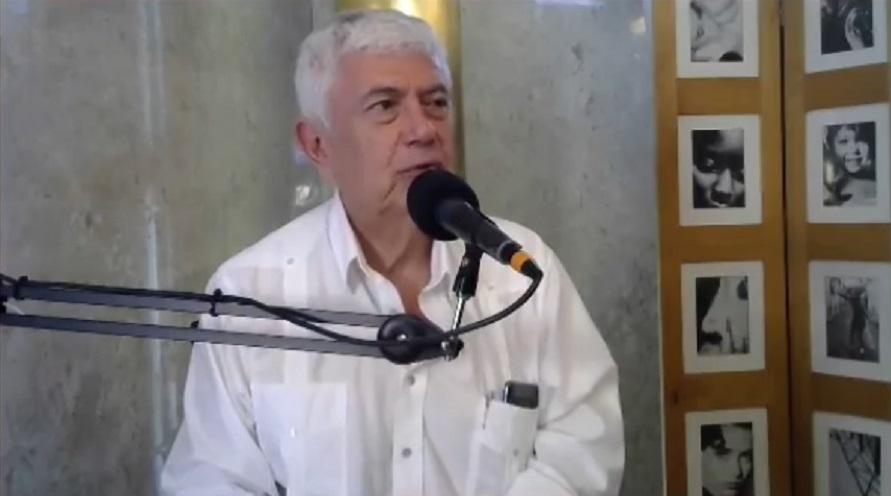 El economista Ricardo Rodríguez Silvero con Bruno Masi. Foto: Captura de pantalla