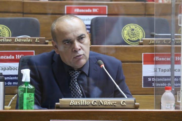 "El diputado Basilio ""Bachi"" Núñez. Foto: Radio Cámara."