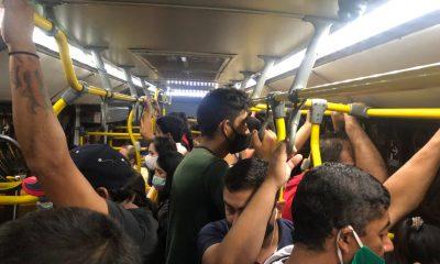 Buses llenos debido a reguladas. Foto: Radio 1020 AM