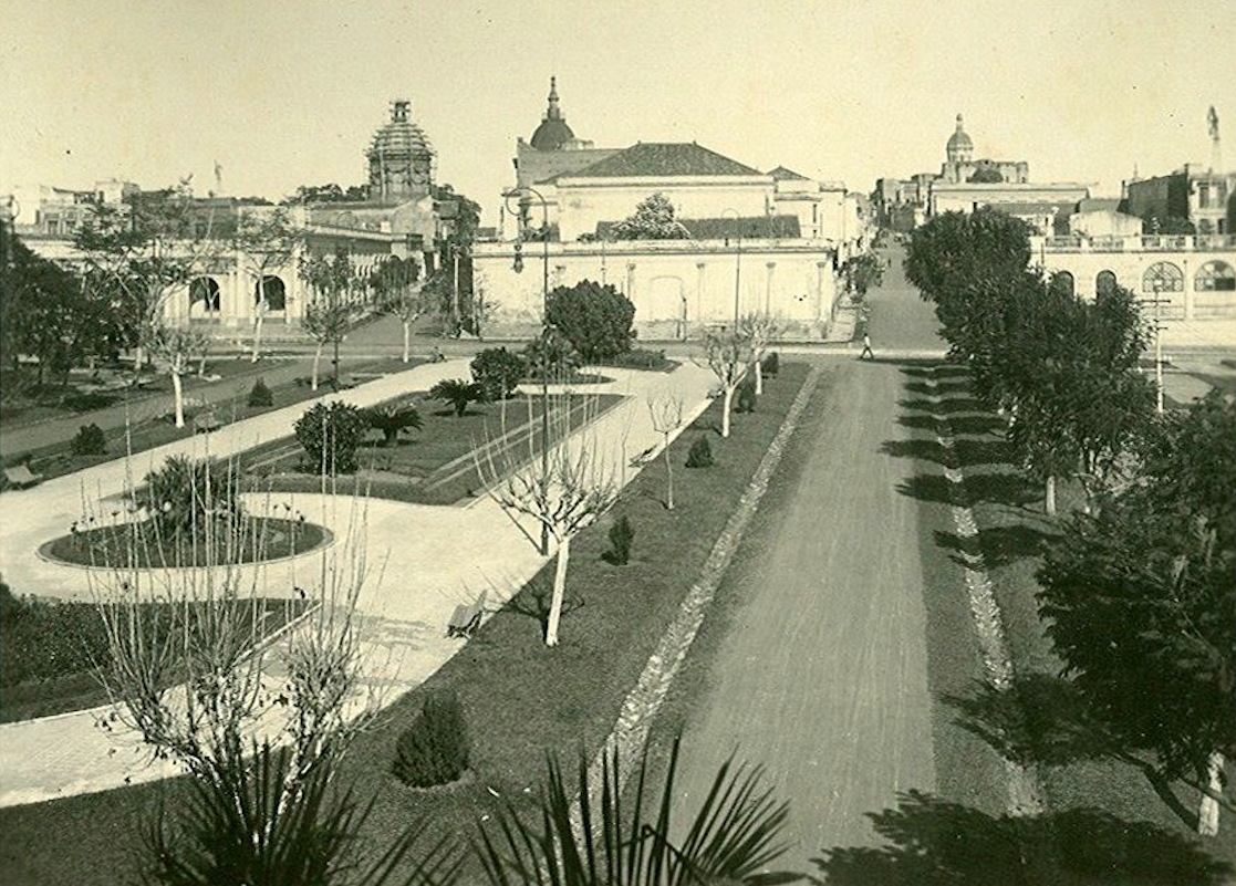 Jardín del ex Cabildo (actual Centro Cultural de la República), ca. 1910