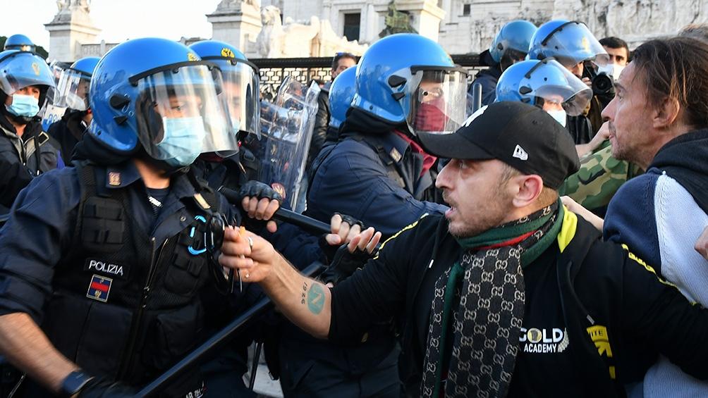 Protestas en Europa. Foto: Télam.