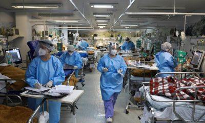 Imagen de un hospital de contingencia en Brasil. Foto: Télam