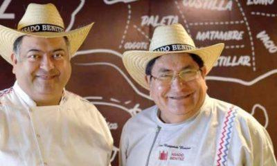 Osvaldo Benítez junto a su padre, Benjamín Benítez. Foto: Gentileza.