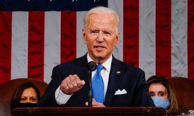El presidente de los Estados Unidos, Joe Biden, se dirige a una sesión conjunta del Congreso en la cámara de la Cámara del Capitolio de los Estados Unidos en Washington. Melina Mara/Pool via REUTERS-Infobae.
