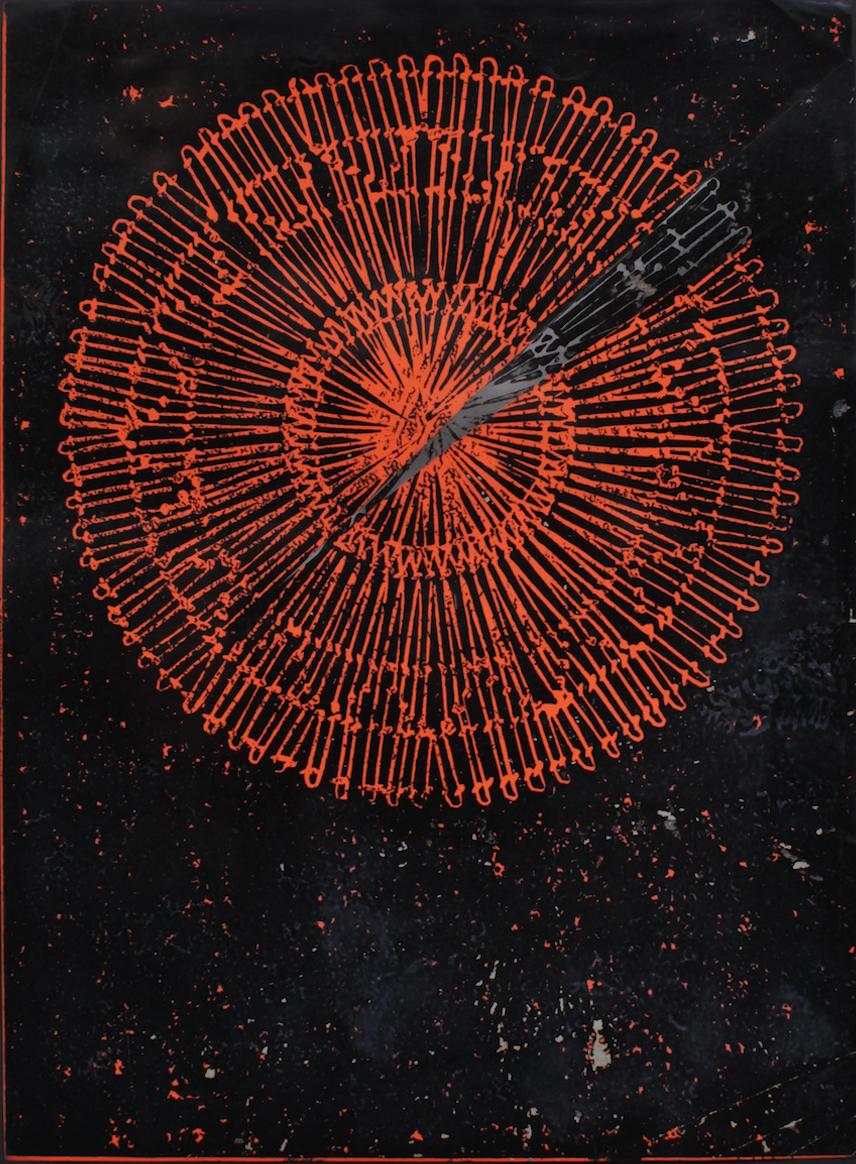 Laura Márquez, Sin título, c. 1966, linograbado, 20 cm x 38 cm. Colección Nasta. Cortesía.