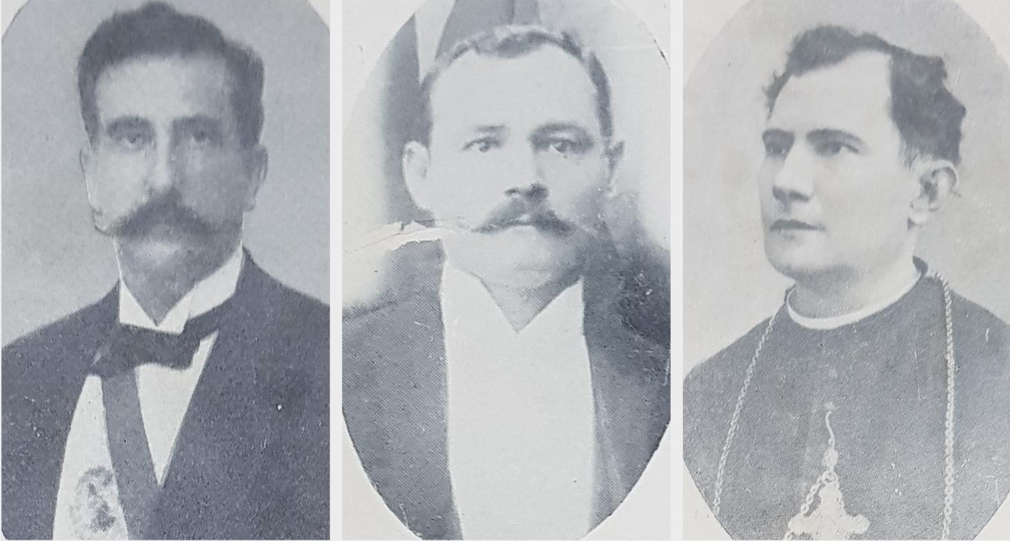 Emilio Aceval, Facundo Ynsfrán, Juan Sinforiano Bogarín. Cortesía