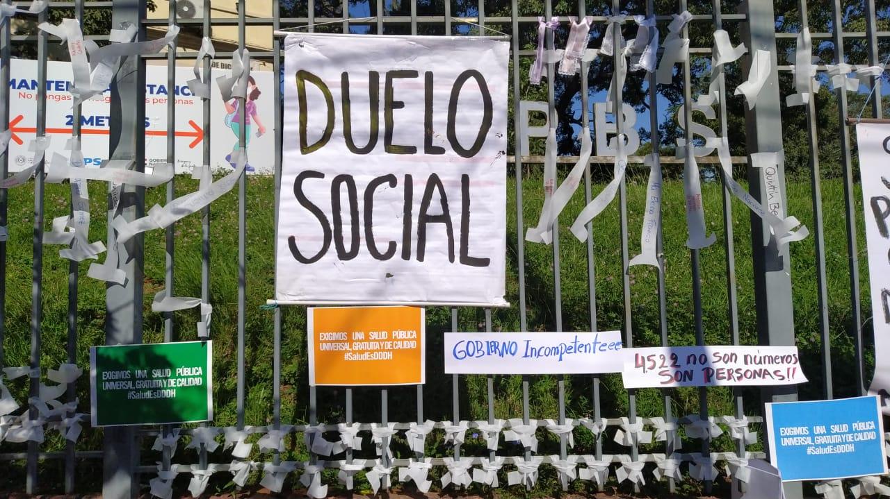 Las más de 4.000 víctimas del Covid general un dueño social sin precedentes en Paraguay. Foto: Codehupy.