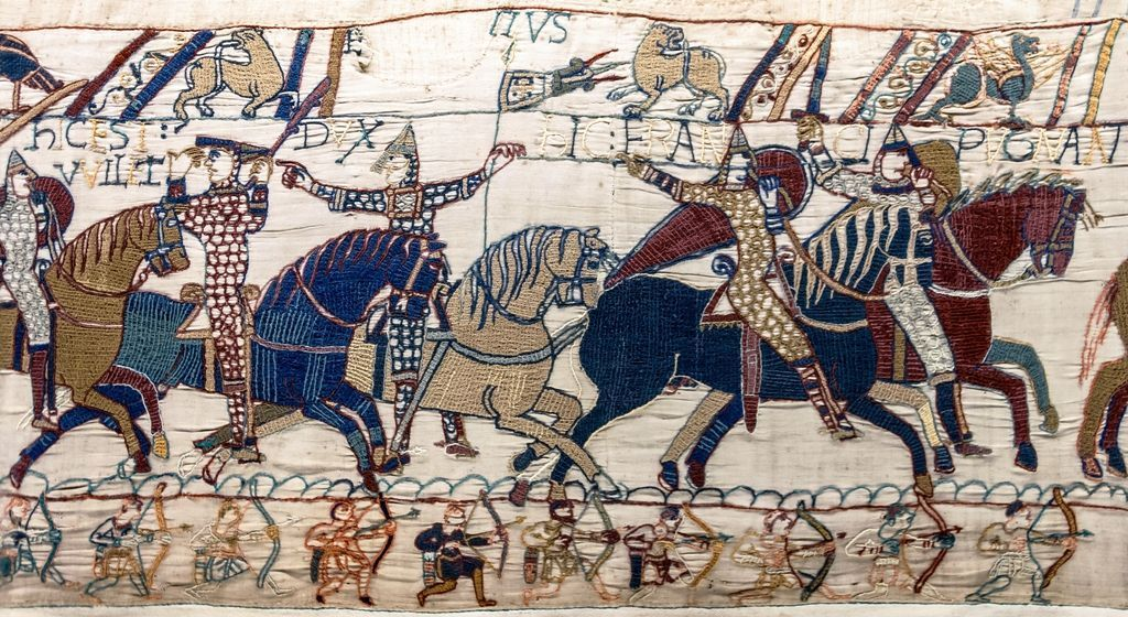 Detalle del Tapiz de Bayeux, siglo XI
