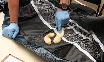Cocaína oculta en colchón inflable. Foto: Senad