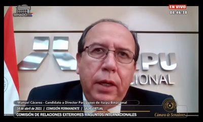 Manuel Cáceres, director interino de Itaipu. Foto: Senado.