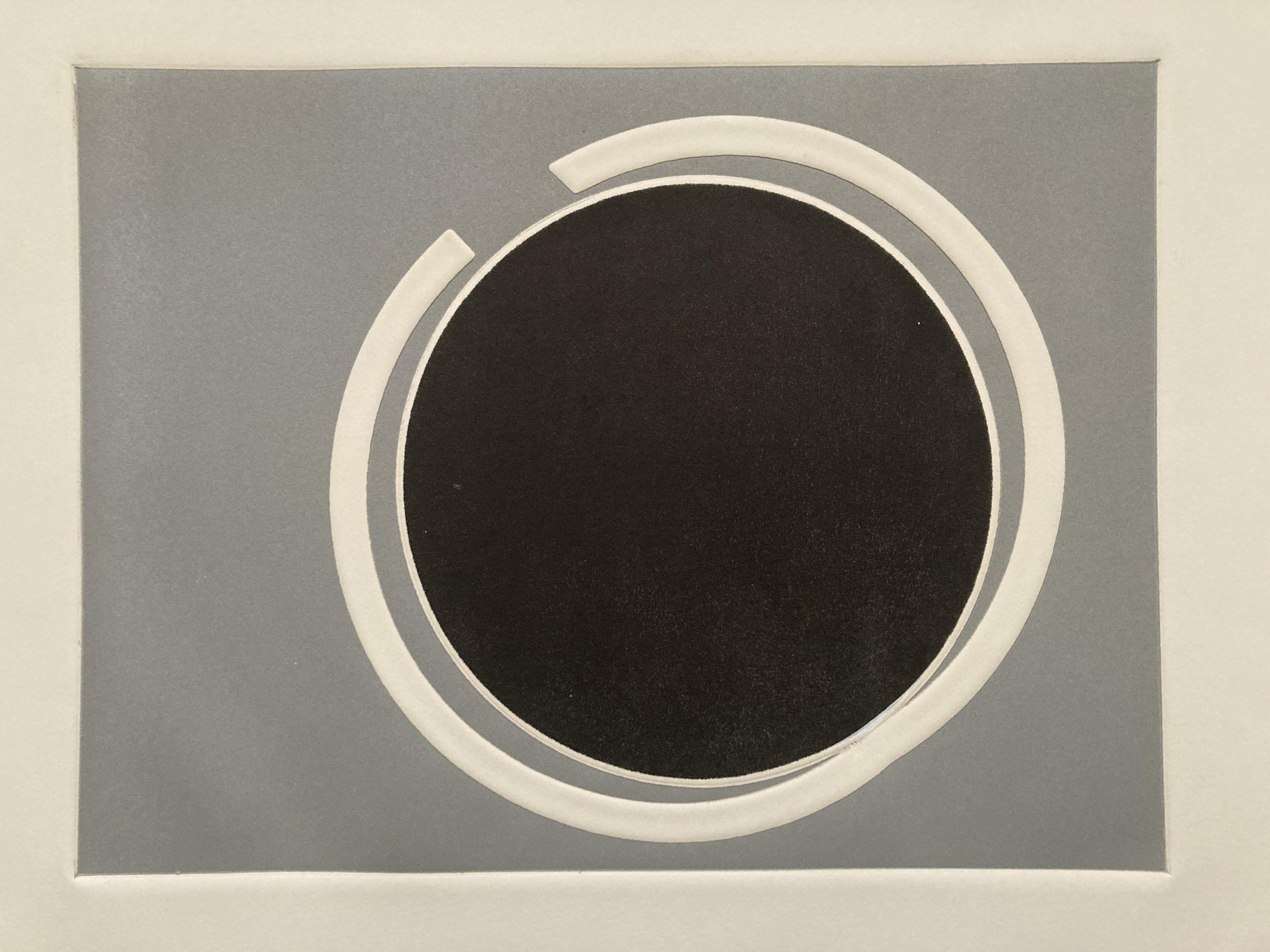 Laura Márquez, Presión/Represión, 1960, aguatinta y gofrado sobre papel, 47 cm x 35,5 cm. Colección privada. Cortesía