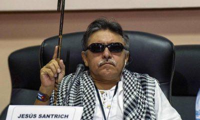 Santrich, que era ciego, participó en las negociaciones de paz entre las FARC y el gobierno de Colombia. Foto: El País.