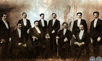 Una postal de 1911, donde aparecen los principales protagonistas políticos de la época. Foto: Archivo de Jorge Rubiani.