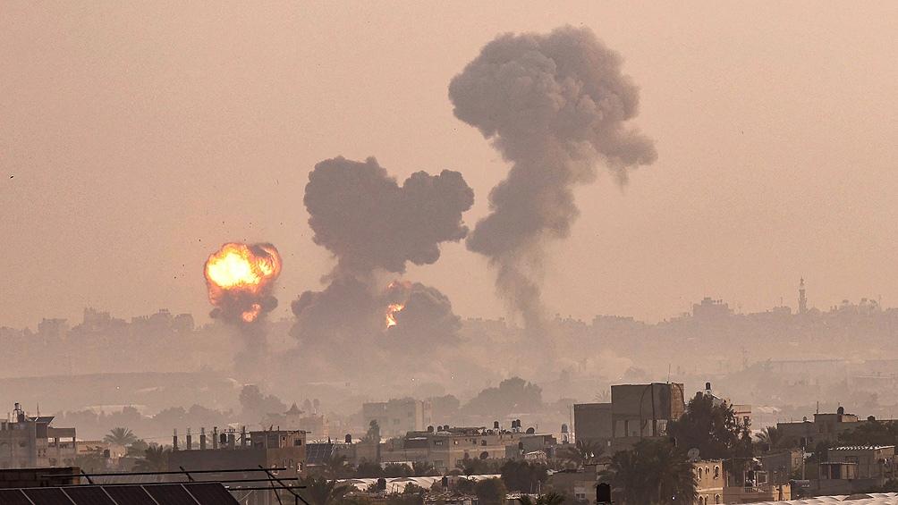 Bombardeos en Israel. Foto: Télam.