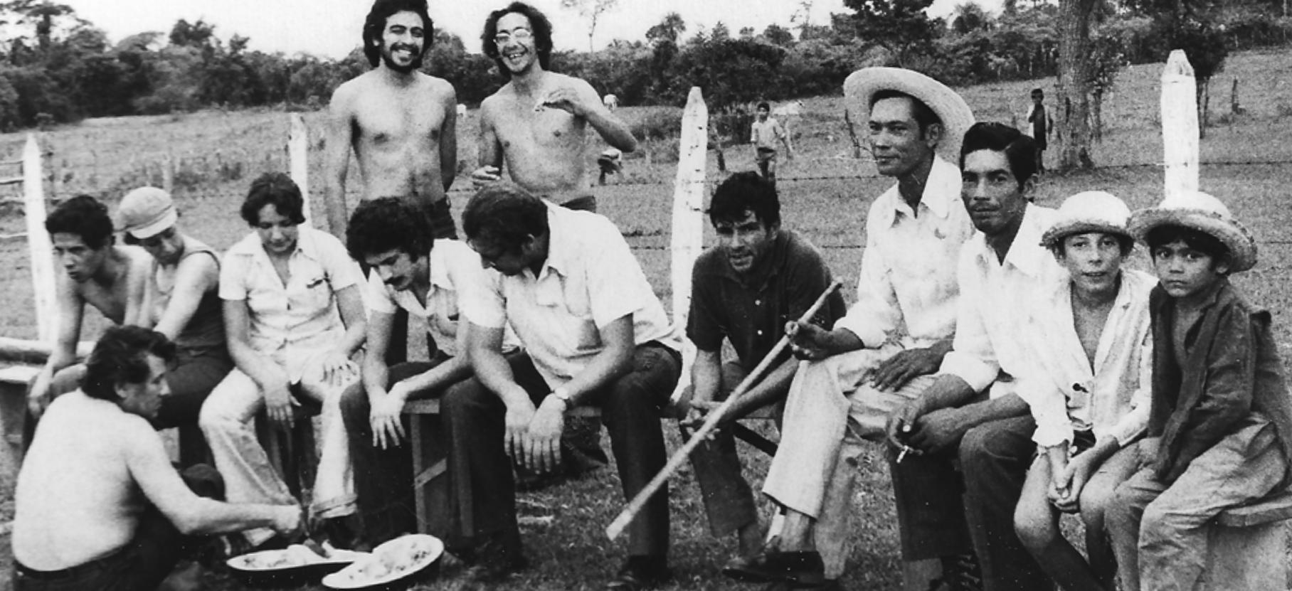 Aty Ñe'ẽ en gira por Caazapá, en un comunidad campesina