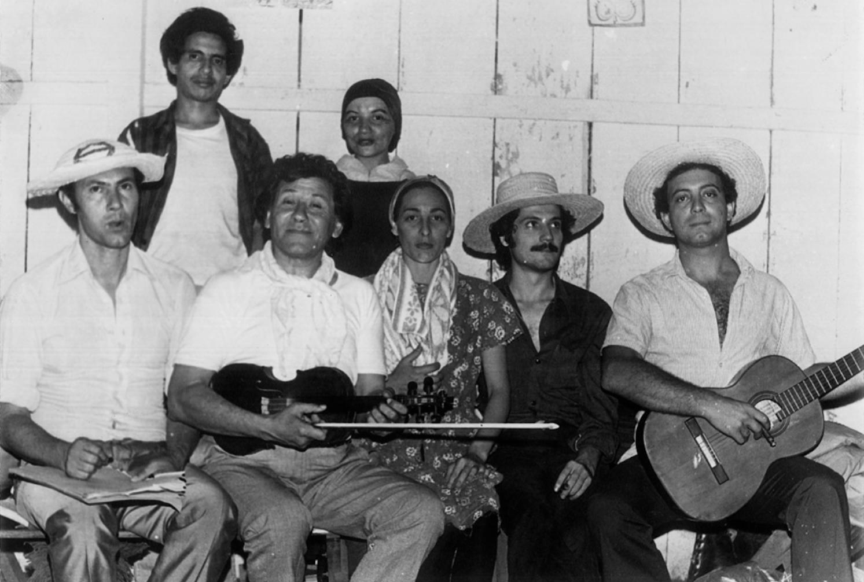 Ramón del Río, Raquel Rojas, Alejo Pesoa, Arturo Pereira, Yiya Gunsett, Tony Carmona y Humberto Gulino