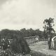 Jardín circular y escalinata de la plazoleta oval, ca. 1920. Cortesía