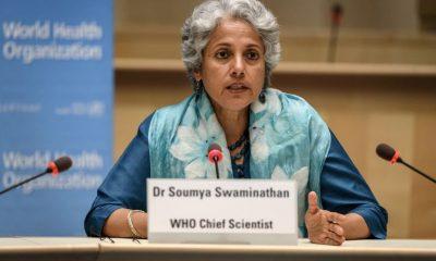 La científica jefe de la OMS, Soumya Swaminathan, durante una conferencia de prensa en Ginebra, Suiza. Fabrice Coffrini/Pool via REUTERS