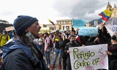 """El frente social convocó a marchar este miércoles porque """"la gente en las calles está exigiendo mucho más que el retiro de la reforma tributaria"""". Foto: Télam."""