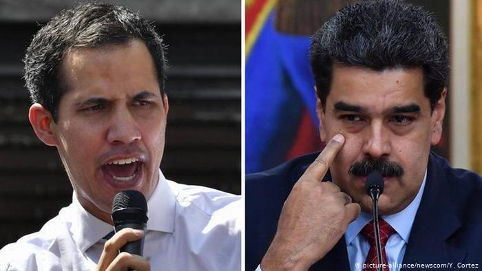 Juan Guaidó, el líder opositor y el dictador Nicolás Maduro. Foto: DW.