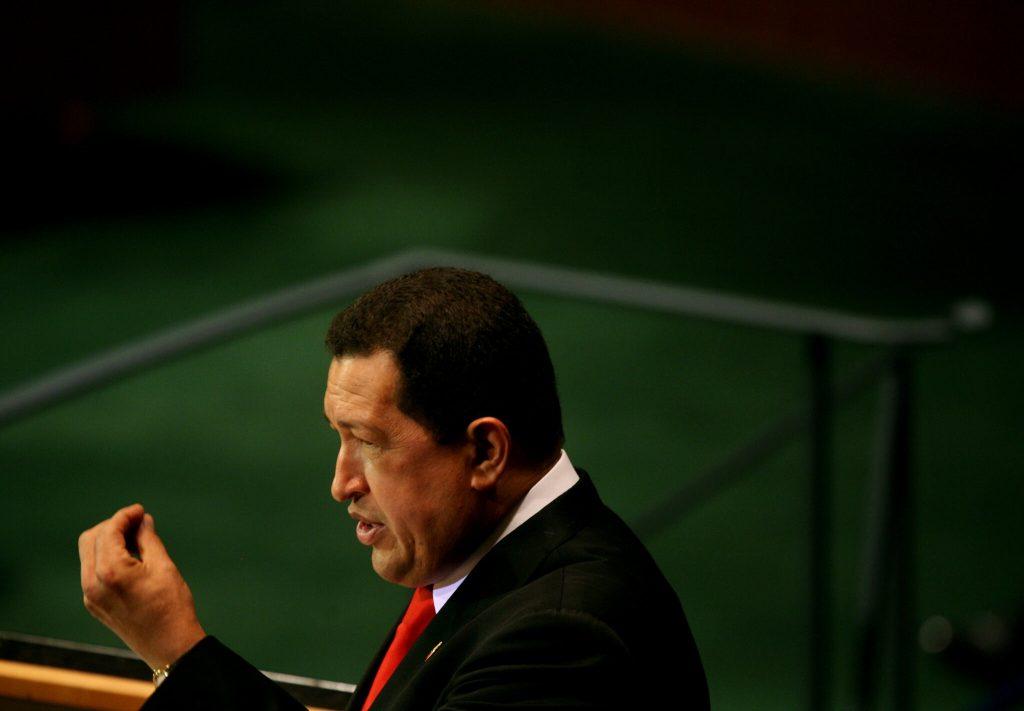 Hugo Chávez en la Asamblea General de las Naciones Unidas, en septiembre de 2009. Foto: The New York Times.