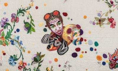 Chiachio y Giannone, Burbujas y flores, 2007, bordado (detalle). Cortesía
