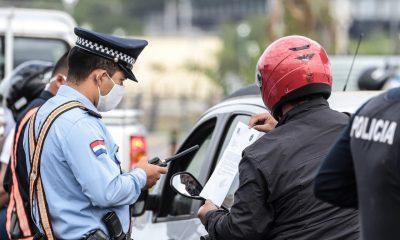 Controles en la vía pública. Foto: Agencia IP.