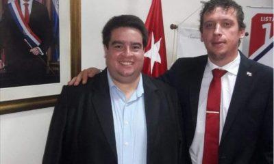 Roque Silva junto al diputado Nano Galaverna. Tuiter