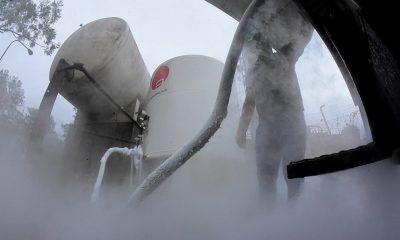 Producción de oxígeno en la planta de Acepar. Foto: Gentileza.