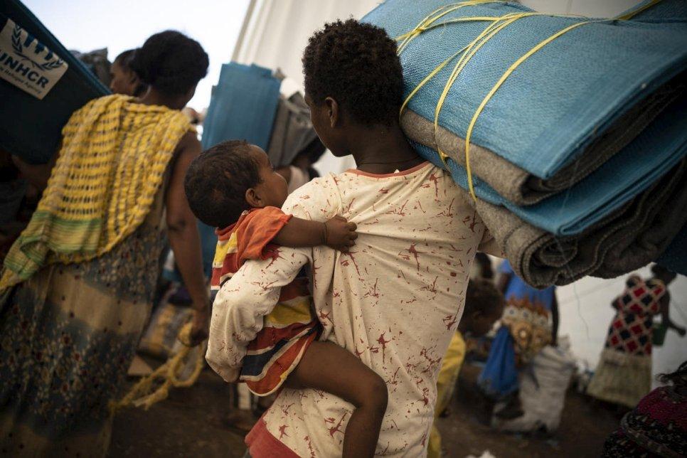 Desplazados en Etiopía. Foto. acnur.org