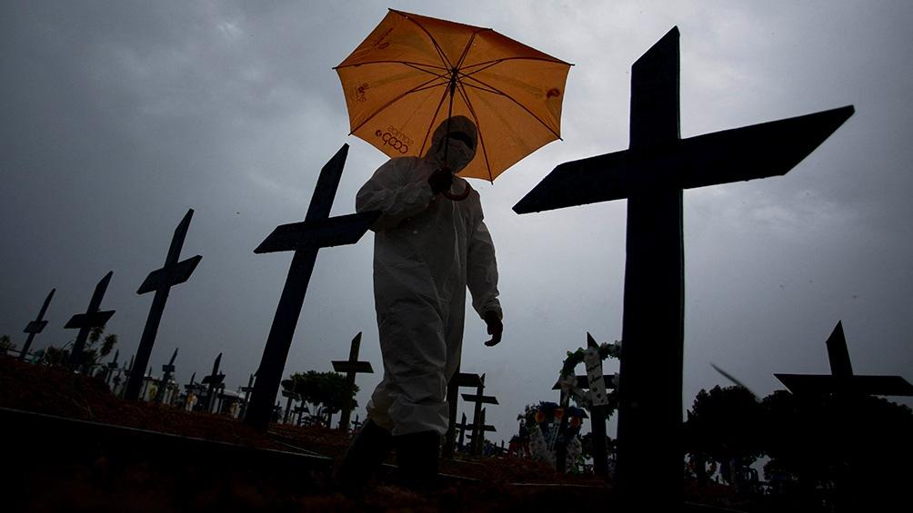Con el medio millón de muertos, Brasil es uno de los países más afectados por la pandemia. Foto: Télam.