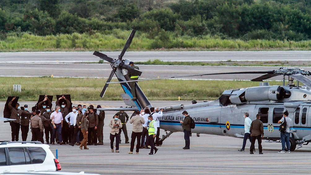 El presidente de Colombia fue víctima de un atentado. Foto: Télam.