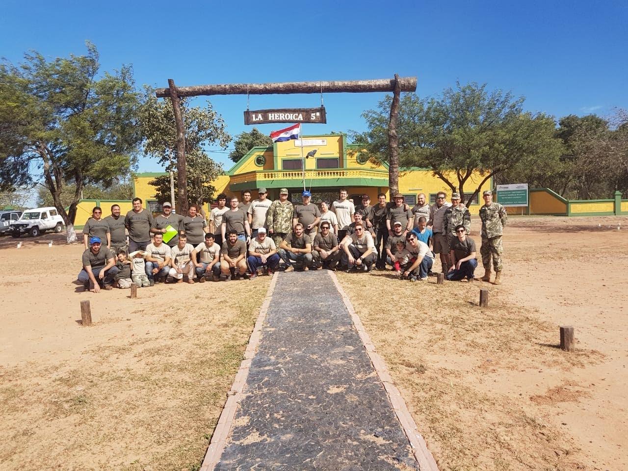 """La """"Expedición Yrendague"""" visitó el hito Nº 6: """"Palmar de las Islas"""". Foto: Gentileza."""