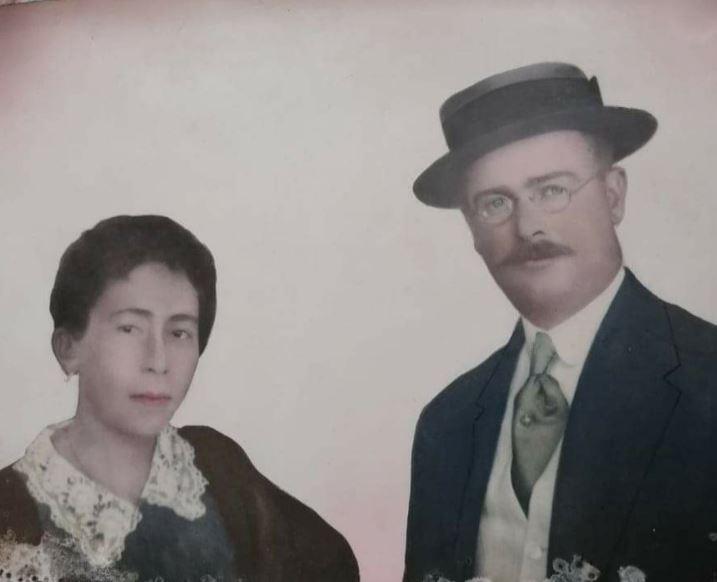 Juan Ramón Dahlquist junto a su esposa. Foto: Gentileza.