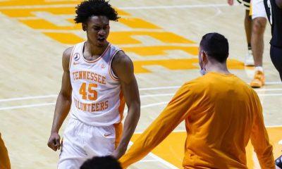 Keon Johnson se destacó en la Universidad de Tennessee. Foto: Infobae..