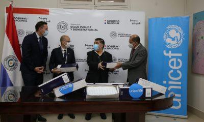 La donación forma parte del apoyo que UNICEF viene dando al MSPBS para fortalecer la respuesta del país a la pandemia. Foto: Gentileza.