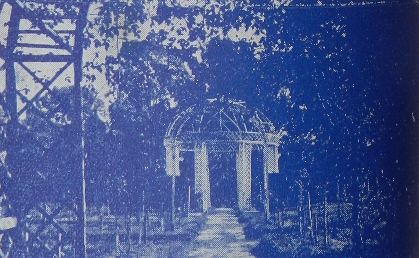Rosedal, glorieta central, ca. 1930. Guía geográfica de turismo