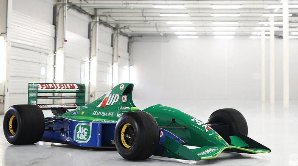 El Jordan 191 con el que debutó Schumacher en la F1 (speedmastercars.com)