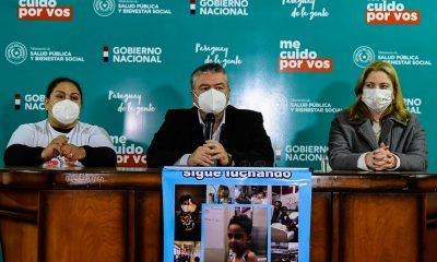 El viceministro Dr. Hernán Martínez hablando en conferencia de prensa. Foto: Gentileza