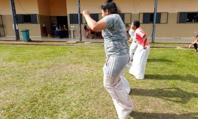 Personas privadas de libertad disfrutaron de los tradicionales juegos del San Juan Ara. Foto: Ministerio de Justicia.