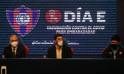 Conferencia de prensa en el Club Cerro Porteño. Foto: Gentileza.