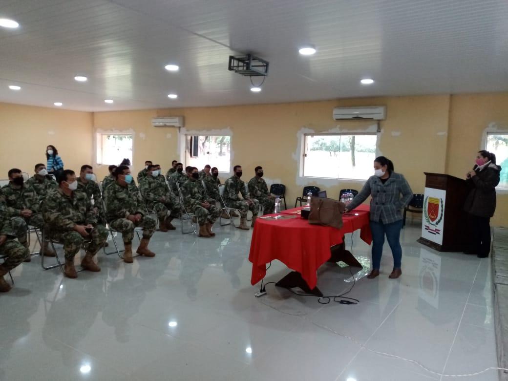 Militares de la División de Infantería participaron del curso. Foto: Gentileza.