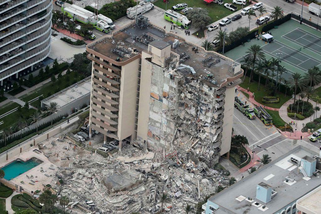 Edificio derrumbado en Miami.