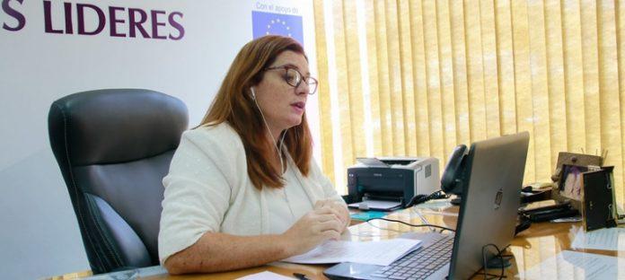 Directora de la Unidad de Políticas de Género de la Justicia Electoral, Cynthia Figueredo. Foto: TSJE.