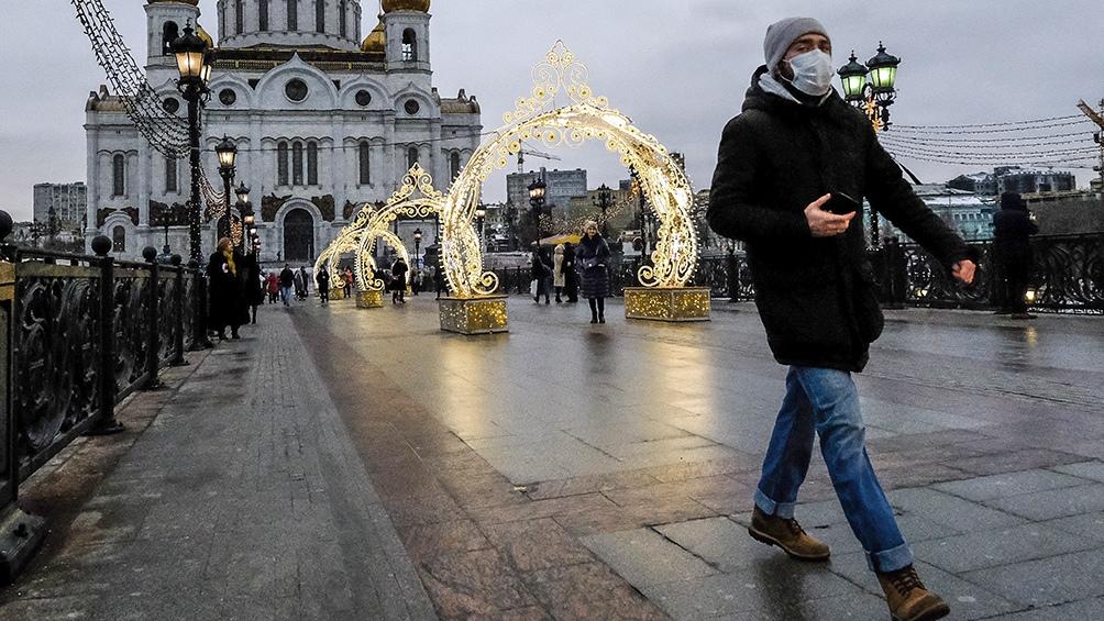En Rusia se registran nuevos picos de casos de Covid-19. Foto: Télam.