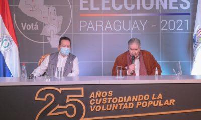 Conferencia de prensa TSJE. Foto: Gentileza.