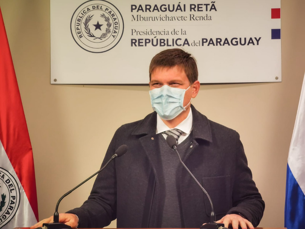 Brunetti habló en Palacio. Foto: Gentileza.